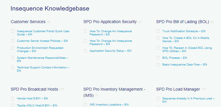 Services- Knowledge Base